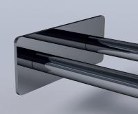 Vlathea DOUBLE TINY Двойной полотенцедержатель с прямоугольной основой TN003 50x405x126