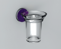 Vlathea ATLA Стакан настенный ATF002 118x127x99 Фиолетовый