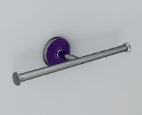 Vlathea ATLA Двойной бумагодержатель ATF006 58x77,6x254 Фиолетовый